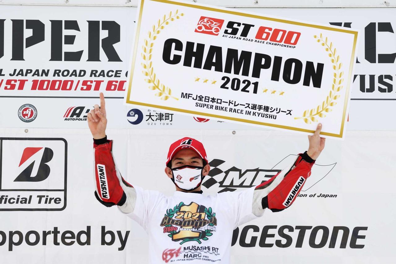 全日本ロードレース最終戦オートポリス 埜口遥希はST600の年間チャンピオンを獲得(速報)